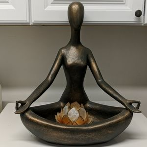 Pier 1 Imports Yoga Sculpture Bronze